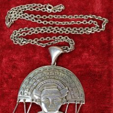 Joyeria: COLGANTE. DIVINIDAD AZTECA. PLATA DE 925. MÉXICO (?). SIGLO XX. Lote 166412386