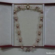 Joyeria: COLLAR DE PERLAS DE 56 CM (APRÓX). CON CAJA. . Lote 166502190