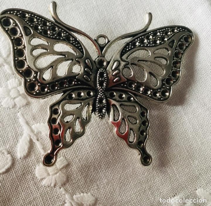 Joyeria: Broche antiguo plateadoen forma de mariposa - Foto 6 - 163964282
