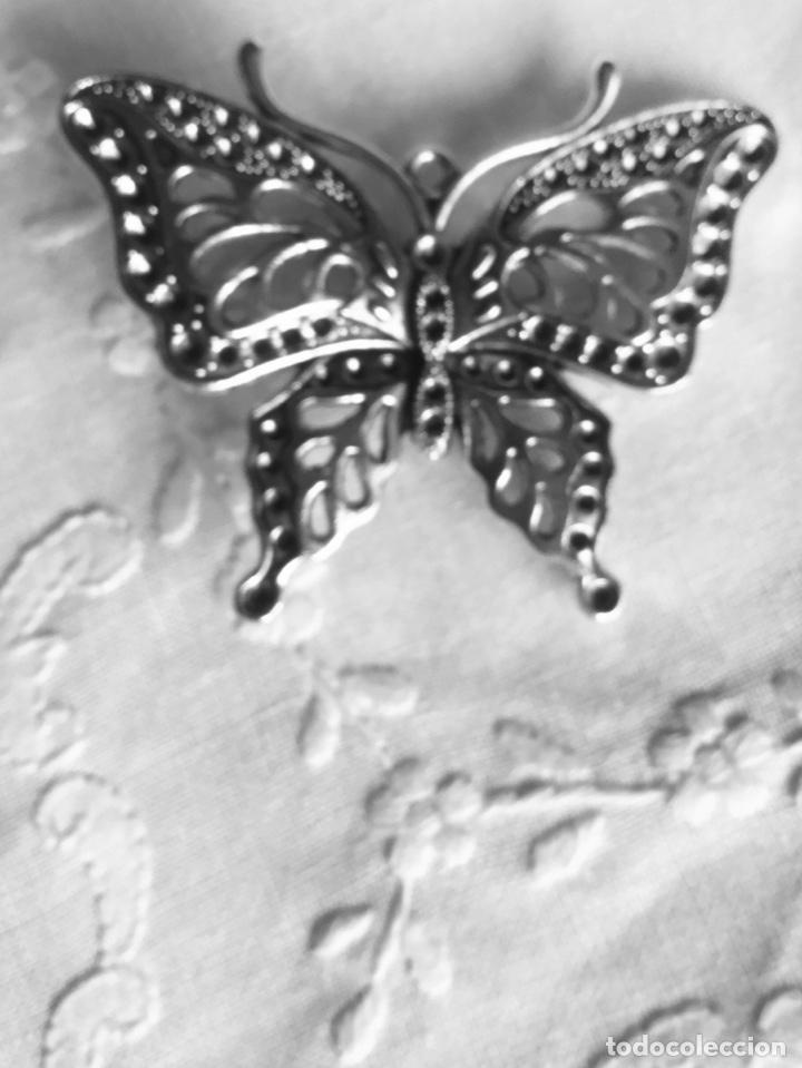 Joyeria: Broche antiguo plateadoen forma de mariposa - Foto 7 - 163964282