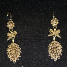 Joyeria - Pendientes isabelinos antiguos de oro - 166576497
