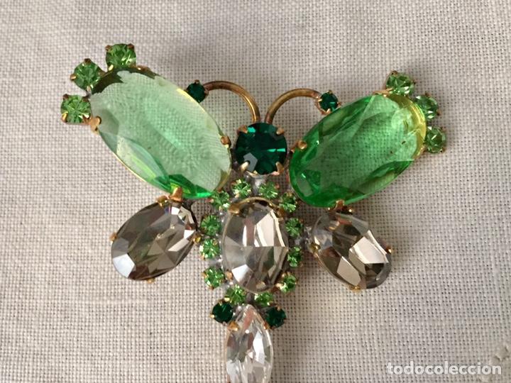 Joyeria: Broche vintage de cristales facetados libelula - Foto 3 - 166643674