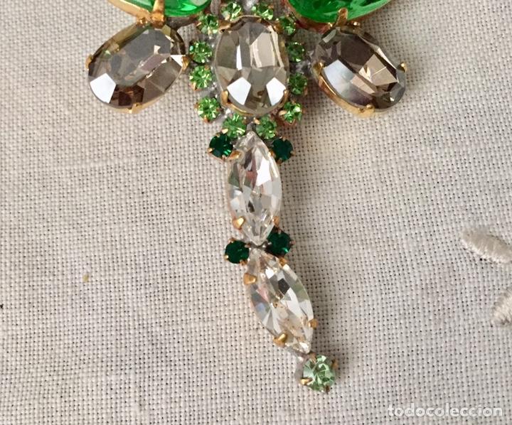 Joyeria: Broche vintage de cristales facetados libelula - Foto 4 - 166643674