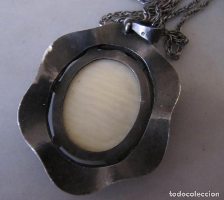 Joyeria: colgante plata y oro medalla virgen marfilia. Años 60 - Foto 4 - 166679926