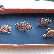 Joyeria: PLATA DE LEY 5 PINS INSIGNIA COCHES. Lote 166748012