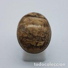 Joyeria: PRECIOSO ANILLO ANTIGUO EN PLATA DE LEY CONTRASTADA CON GRAN PIEDRA DE JASPE NATURAL.. Lote 166900868