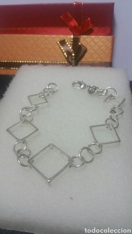 Joyeria: Pulsera / de cadena simple y cuadrados / EN PLATA 925 ¡¡ PESA 14 GRAMOS ¡¡ - Foto 2 - 143050378