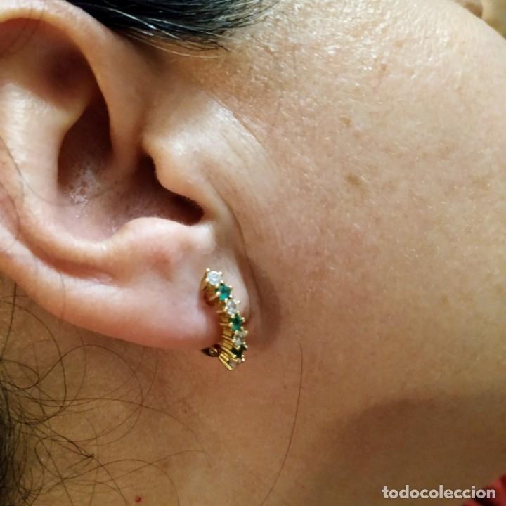 Joyeria: Conjunto anillo y pendientes oro 18kt - Foto 3 - 143693480