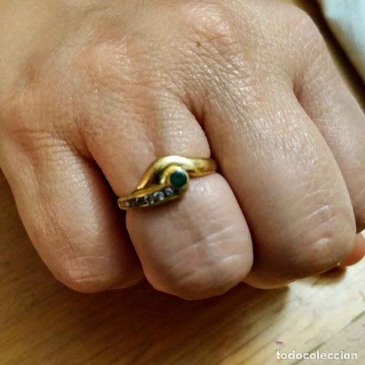 Joyeria: Conjunto anillo y pendientes oro 18kt - Foto 4 - 143693480