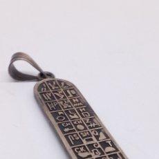 Joyeria: COLGANTE DE PLATA EGIPCIO. Lote 167500578