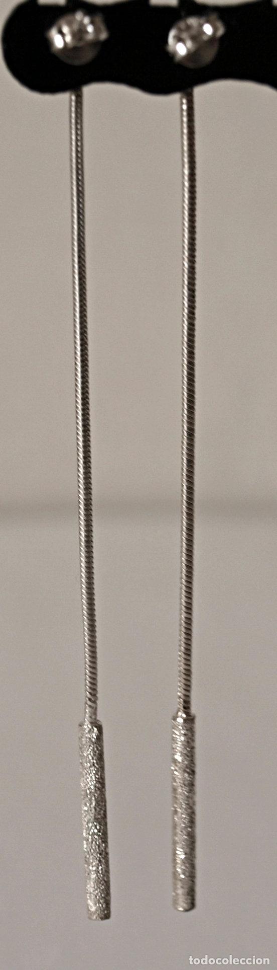 Joyeria: PENDIENTES LARGOS DE PLATA DE LEY CONTRASTADA. 8,4 CM LARGO APROX. VER FOTOS Y DESCRIPCION - Foto 6 - 167638385