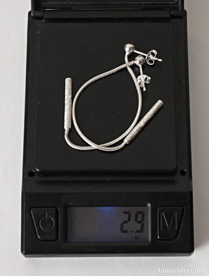 Joyeria: PENDIENTES LARGOS DE PLATA DE LEY CONTRASTADA. 8,4 CM LARGO APROX. VER FOTOS Y DESCRIPCION - Foto 10 - 167638385