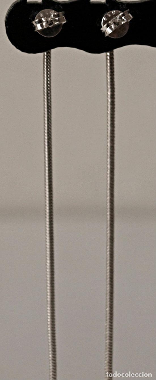 Joyeria: PENDIENTES LARGOS DE PLATA DE LEY CONTRASTADA. 8,4 CM LARGO APROX. VER FOTOS Y DESCRIPCION - Foto 14 - 167638385