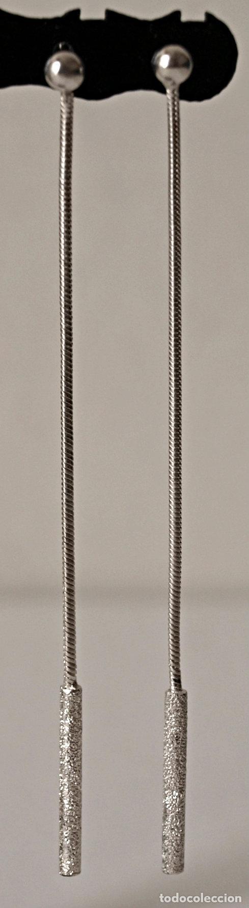 Joyeria: PENDIENTES LARGOS DE PLATA DE LEY CONTRASTADA. 8,4 CM LARGO APROX. VER FOTOS Y DESCRIPCION - Foto 16 - 167638385