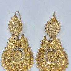 Schmuck - Pendientes antiguos de filigrana de plata sobredorada - 167481082