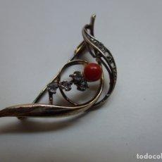 Joalheria: BROCHE ANTIGUO DE PLATA. PIEDRITAS. Lote 167685732