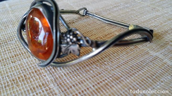 Joyeria: Pulsera brazalete, AMBAR y plata - Foto 2 - 167731288