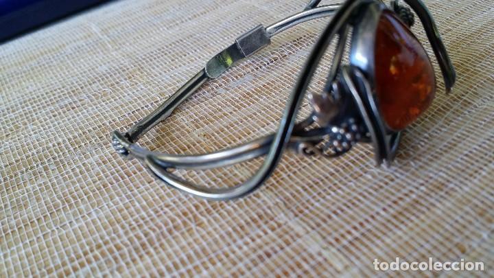 Joyeria: Pulsera brazalete, AMBAR y plata - Foto 3 - 167731288