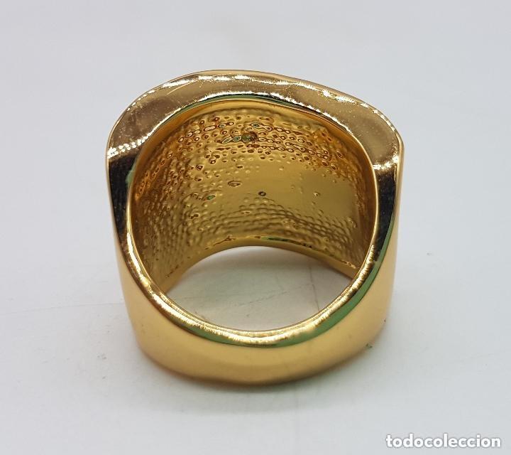 Joyeria: Precioso anillo chapado en oro de 18 quilates de pedrería incrustada - Foto 4 - 168152888