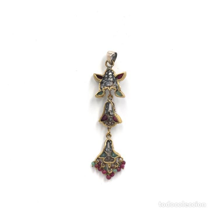 Joyeria: Colgante de plata ,esmeraldas, rubíes y circonitas - Foto 2 - 168208084