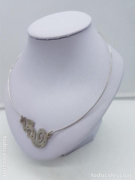 Joyeria: Antigua gargantilla en plata de ley con colgant con forma de mono ardilla saimiri. - Foto 3 - 168662052