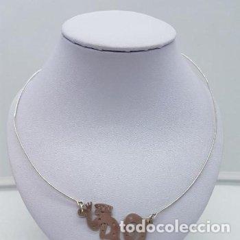 Joyeria: Antigua gargantilla en plata de ley con colgant con forma de mono ardilla saimiri. - Foto 4 - 168662052
