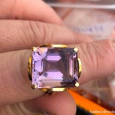 Joyeria - Magnifico anillo oro de 18 klts y enorme amatista natural - 168743856