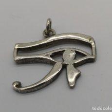 Joyeria: COLGANTE ANTIGUO EGIPCIO EN PLATA DE LEY OJO DE HORUS, UDYAT, CON PUNZONES .. Lote 168975756
