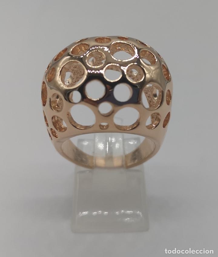 Joyeria: Espectacular anillo de diseño sofisticado de lujo con acabado en oro de 18k rosa . - Foto 2 - 169771356