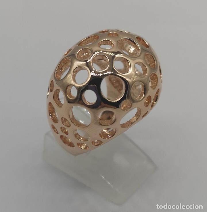 Joyeria: Espectacular anillo de diseño sofisticado de lujo con acabado en oro de 18k rosa . - Foto 3 - 169771356