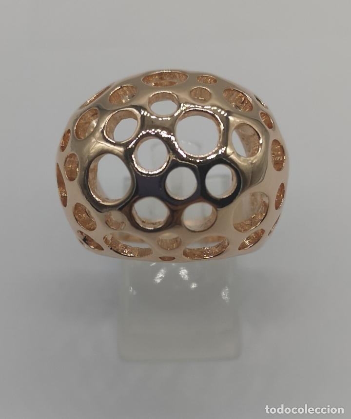 Joyeria: Espectacular anillo de diseño sofisticado de lujo con acabado en oro de 18k rosa . - Foto 4 - 169771356