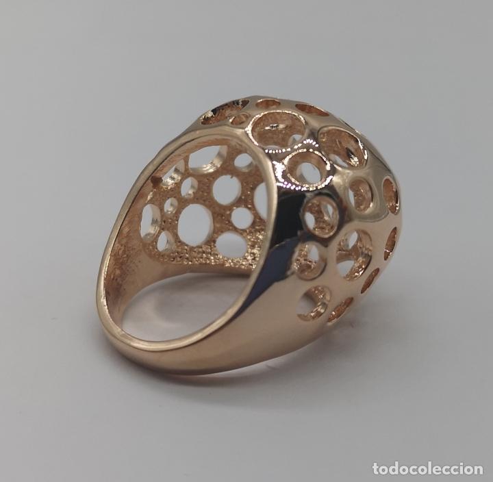 Joyeria: Espectacular anillo de diseño sofisticado de lujo con acabado en oro de 18k rosa . - Foto 5 - 169771356