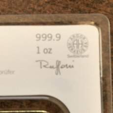 Joyeria: LINGOTE ORO PUREZA 999,9 HERAEUS 1 OZ (31,10 GRS) EMBLISTADO Y CERTIFICADO. Lote 170401976