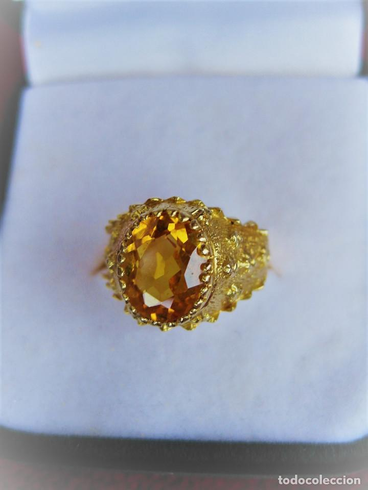 Anillo De Oro De 18 Klts Con Piedra Semiprecio Buy Antique Rings At Todocoleccion 170674500