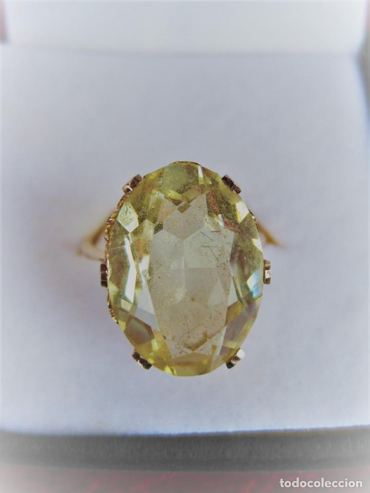 Anillo De Oro De 18 Klts Con Piedra Semiprecio Comprar Anillos Antiguos En Todocoleccion 170679645