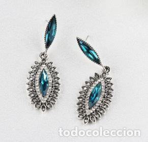 Joyeria: Preciosos pendientes en plata con diamantes y tanzanitas - Foto 2 - 171156173