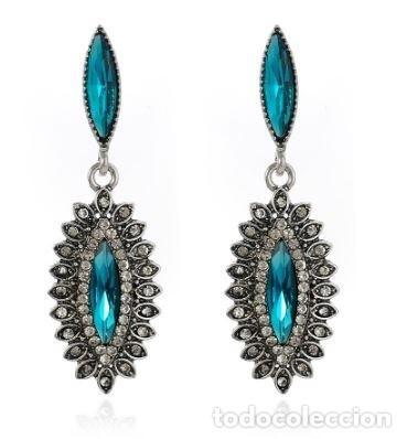 Joyeria: Preciosos pendientes en plata con diamantes y tanzanitas - Foto 3 - 171156173