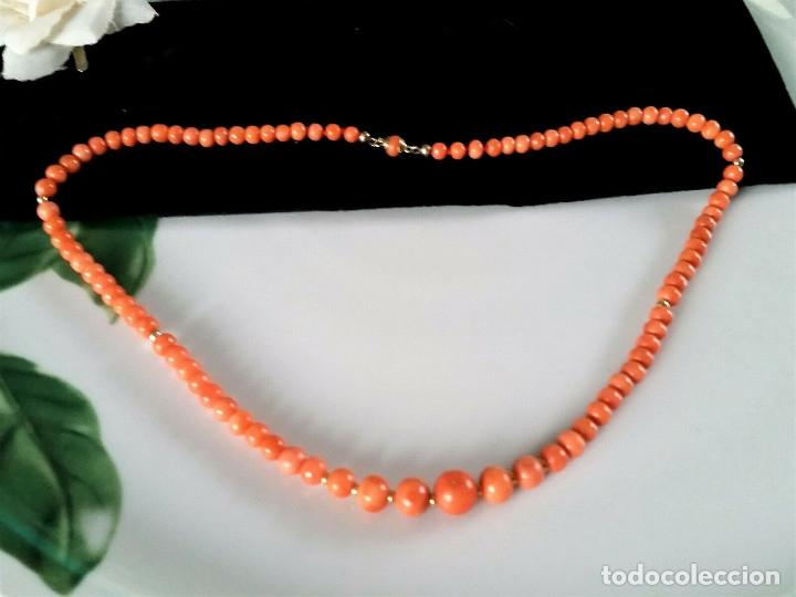 Joyeria: Collar de coral genuino/100% natural.Coral Sardegna. Con cierre de oro 14k. 44 cms en total. - Foto 2 - 195072907