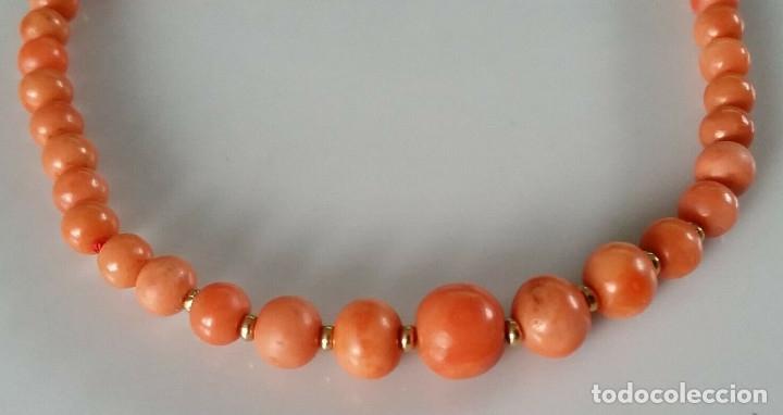 Joyeria: Collar de coral genuino/100% natural.Coral Sardegna. Con cierre de oro 14k. 44 cms en total. - Foto 6 - 195072907