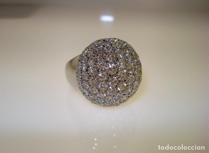 Joyeria: TREMENDO ANILLO DE ORO BLANCO 18 KT CON 150 DIAMANTES GENUINOS 5,50 CT EN TOTAL,CERTIFICADO GEMOLOGO - Foto 23 - 172568094