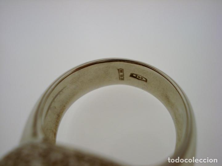 Joyeria: TREMENDO ANILLO DE ORO BLANCO 18 KT CON 150 DIAMANTES GENUINOS 5,50 CT EN TOTAL,CERTIFICADO GEMOLOGO - Foto 24 - 172568094