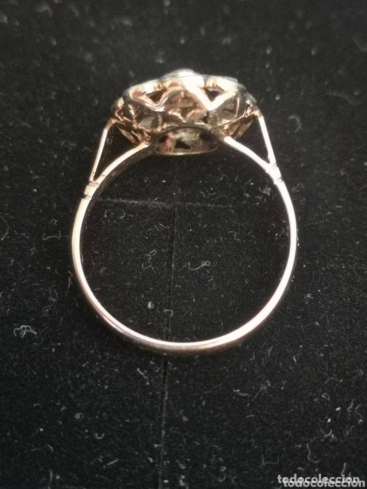 Joyeria: Sortija isabelina antigua de oro y diamantes, rosetón - Foto 3 - 172570365