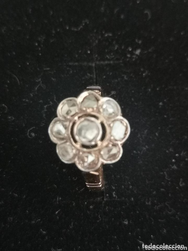 Joyeria: Sortija isabelina antigua de oro y diamantes, rosetón - Foto 4 - 172570365