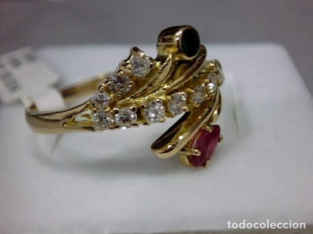 Joyeria: anillo oro 18 kl ,diamantes - Foto 2 - 172749875