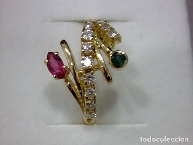 Joyeria: anillo oro 18 kl ,diamantes - Foto 4 - 172749875