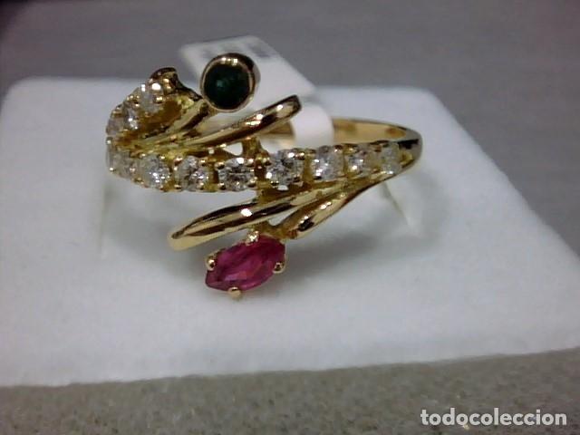 Joyeria: anillo oro 18 kl ,diamantes - Foto 5 - 172749875