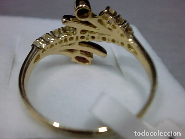 Joyeria: anillo oro 18 kl ,diamantes - Foto 6 - 172749875
