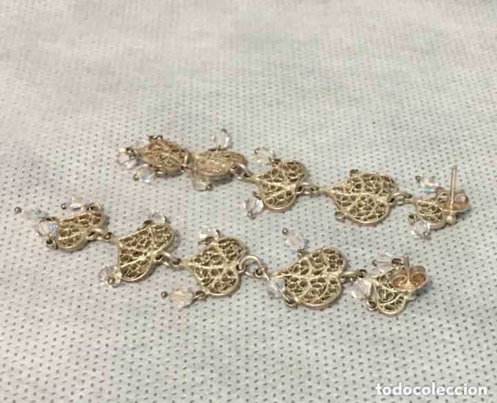 Joyeria: Pendientes de plata de filigrana con Cristal de roca antiguos - Foto 3 - 172794944