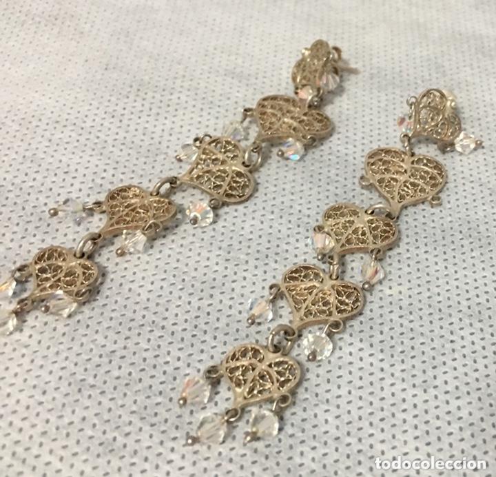 Joyeria: Pendientes de plata de filigrana con Cristal de roca antiguos - Foto 5 - 172794944