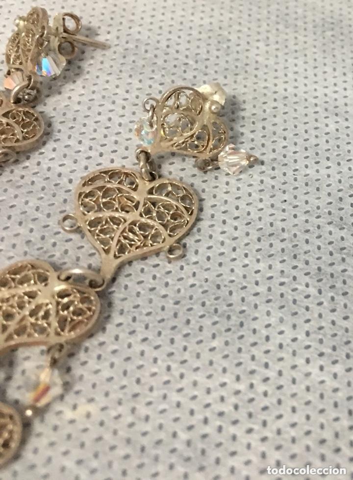 Joyeria: Pendientes de plata de filigrana con Cristal de roca antiguos - Foto 6 - 172794944
